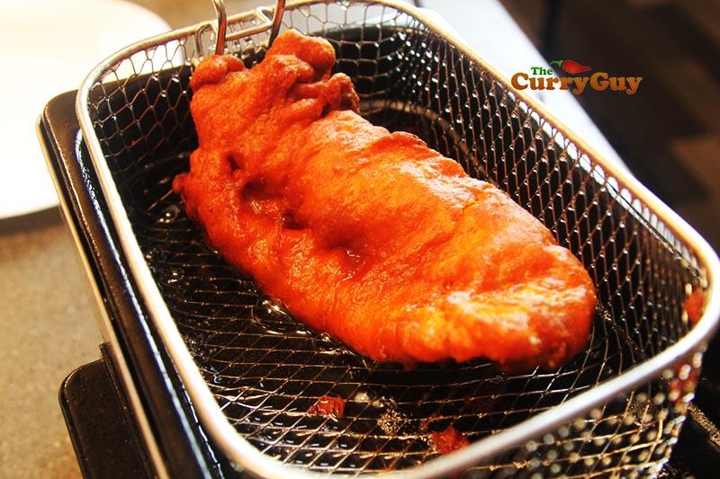 frying Indian fish