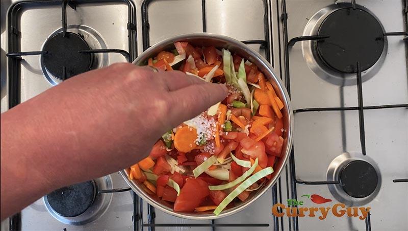 Adding salt