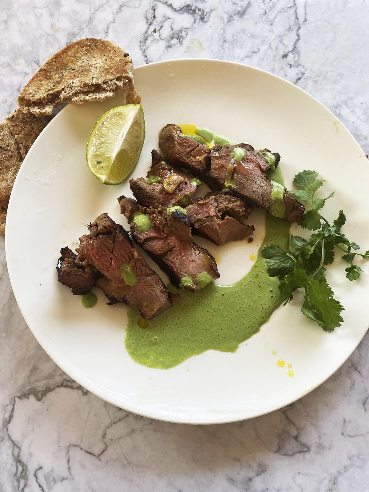 plated lamb raan