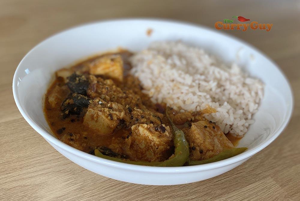 Finished Malabar fish curry