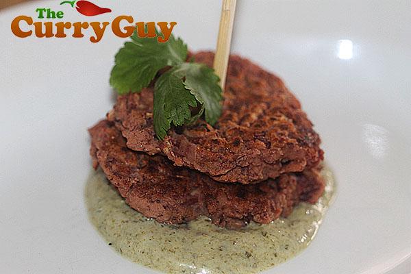 Goan spicy bean cakes