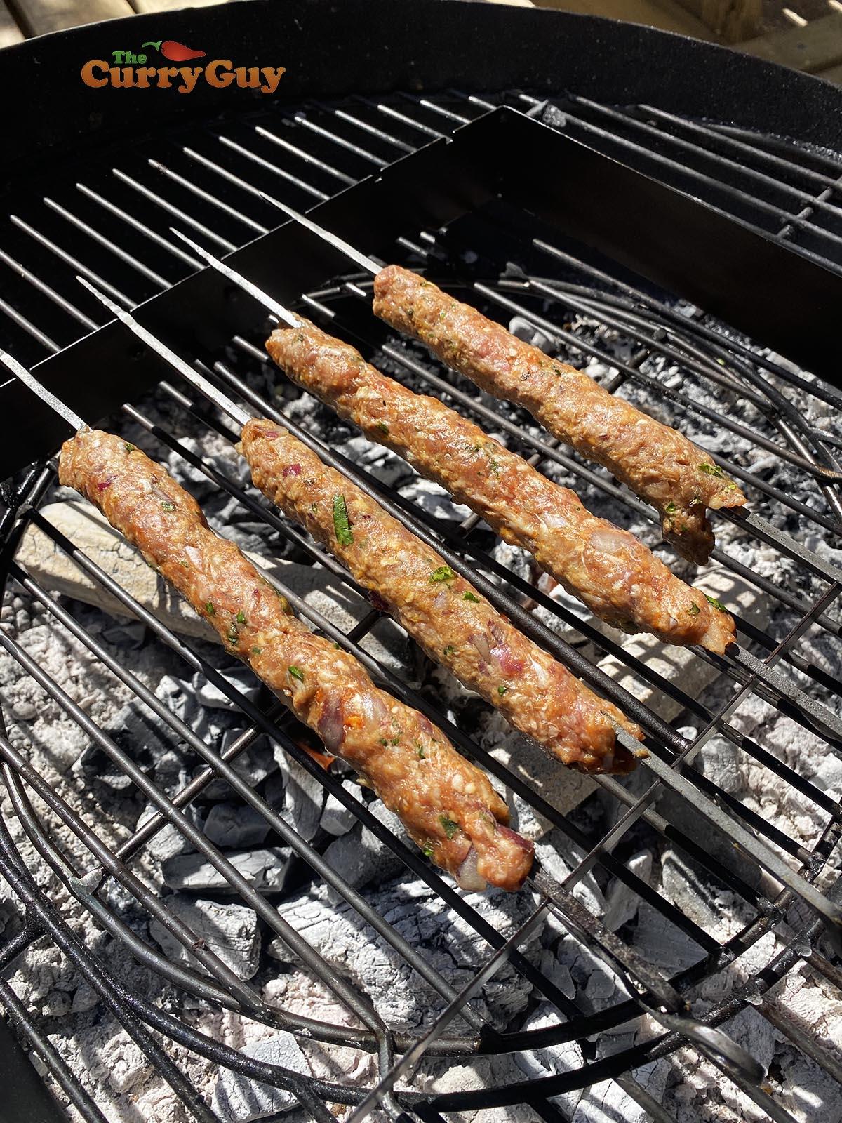 Grilling kebabs