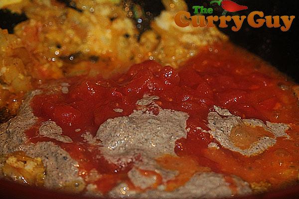 Making Punjabi Halibut curry