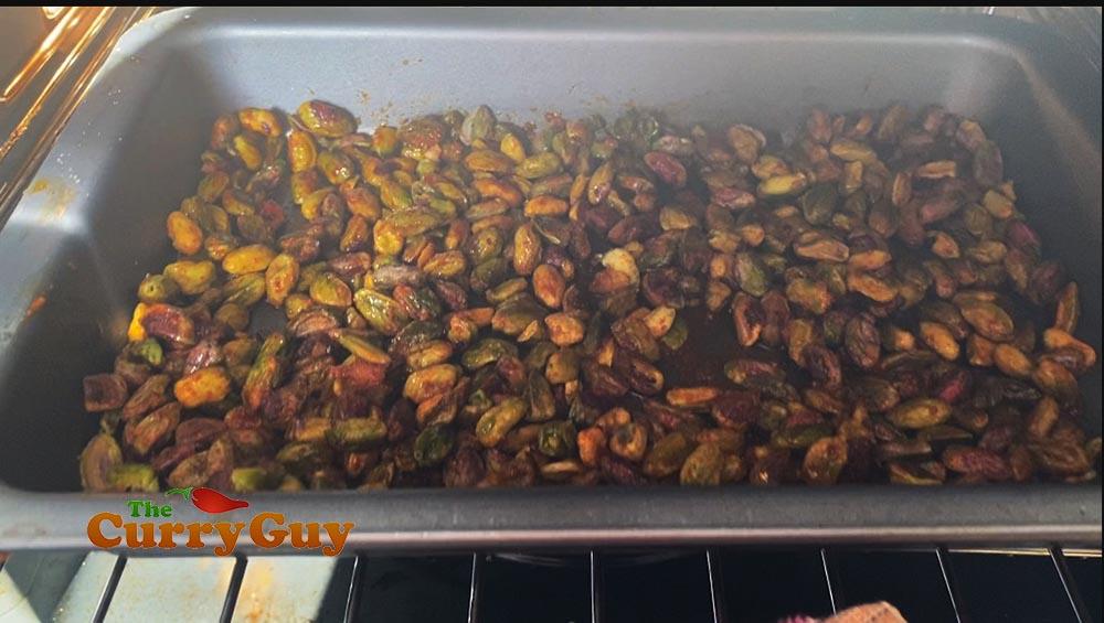 Baking pistachios