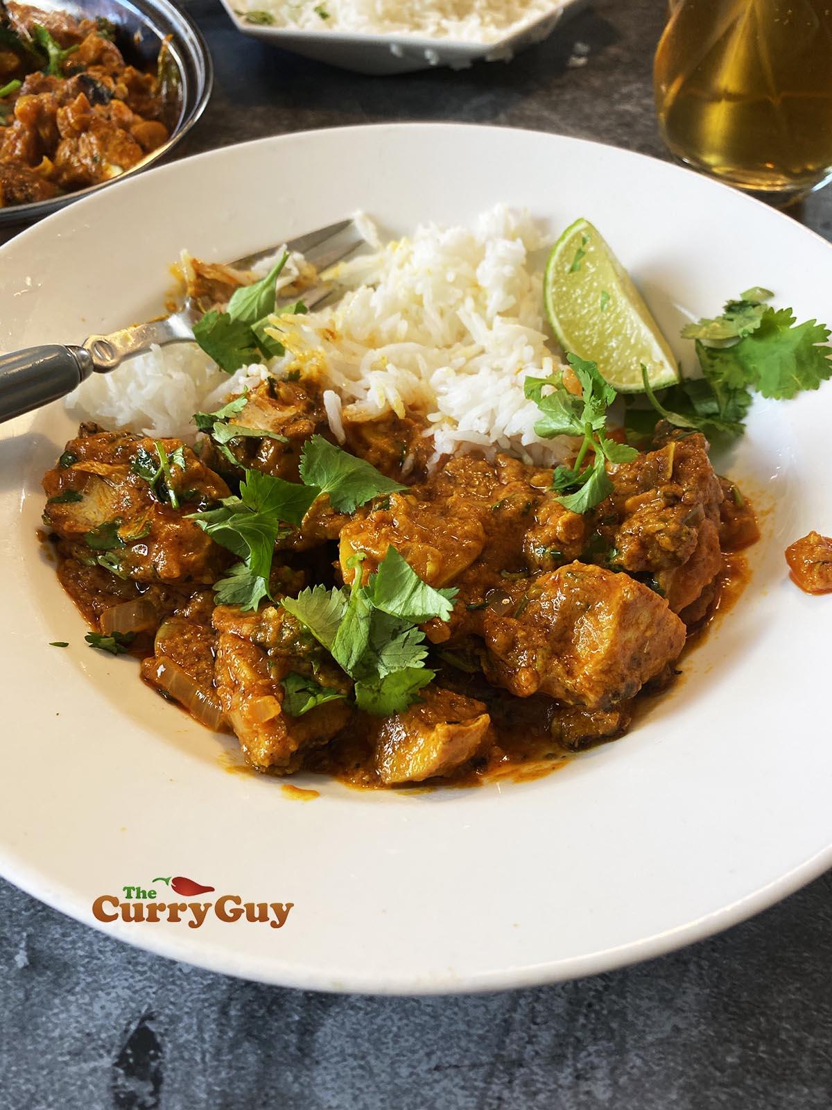 Chicken chilli garlic curry