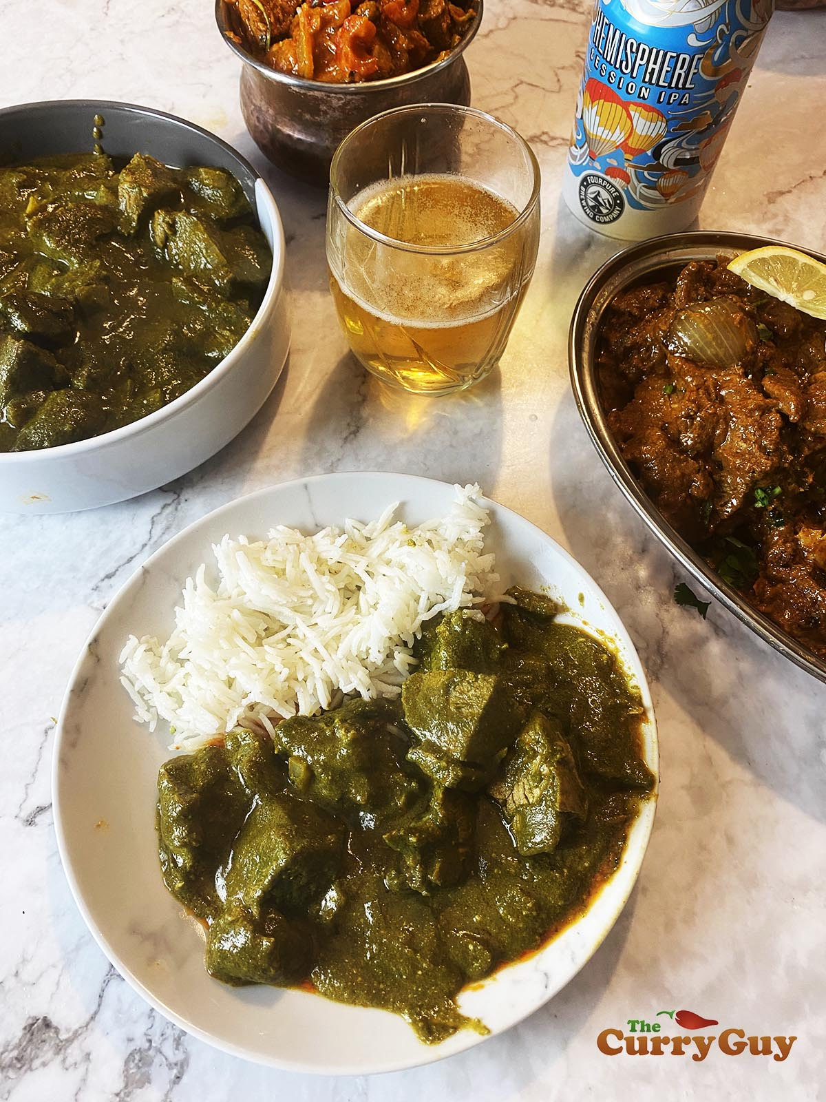 Lamb saag curry recipe