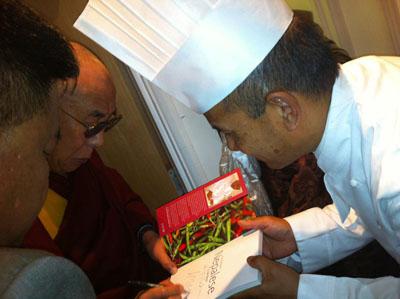 Pemba Lama meets the Dalai Lama