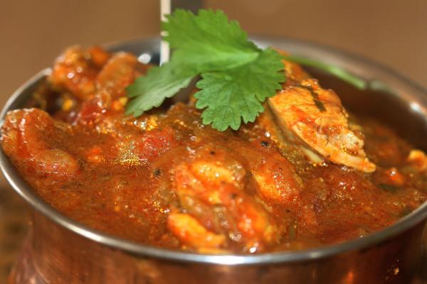 Making chicken curry