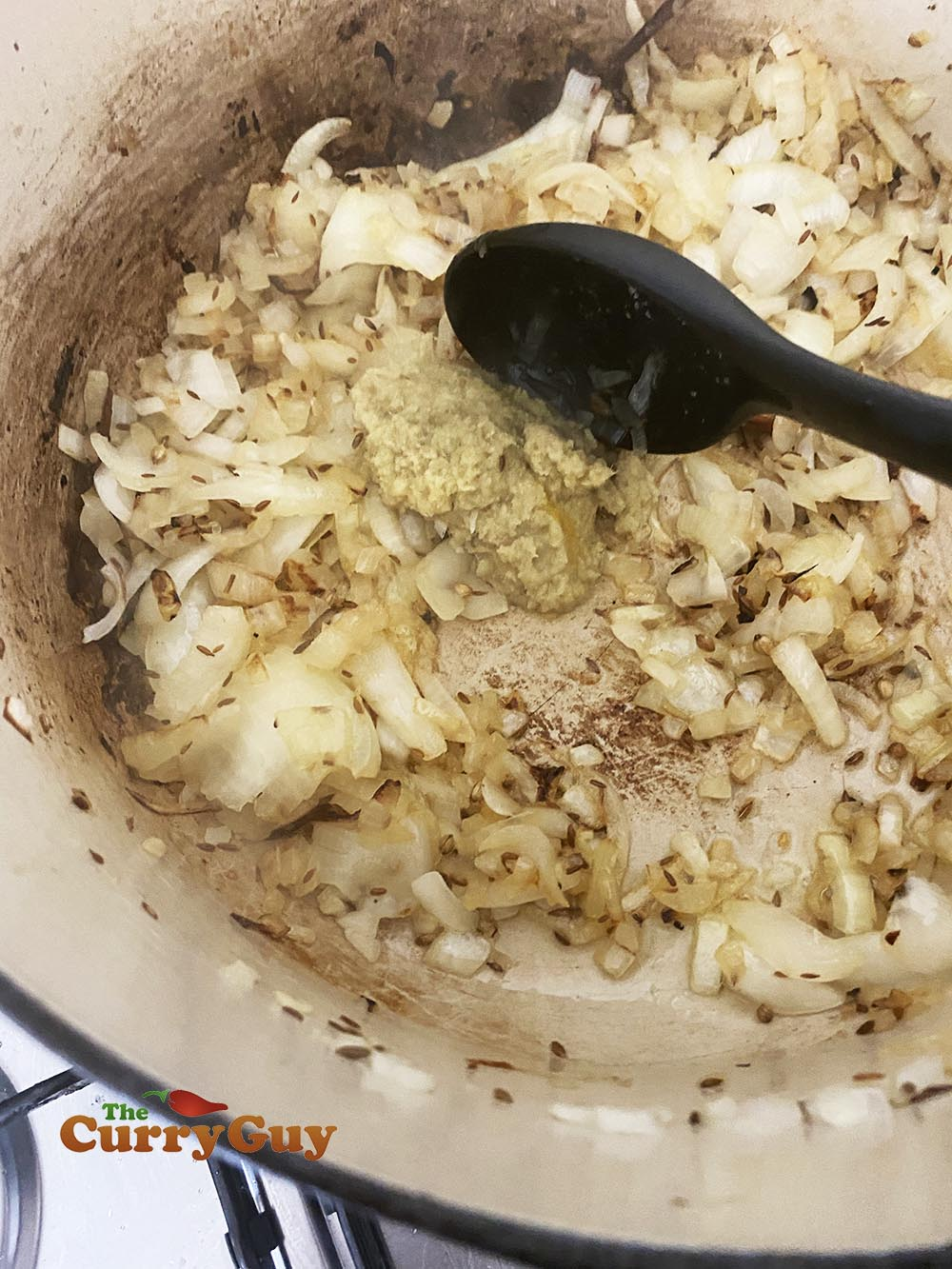 added onions and garlic ginger paste