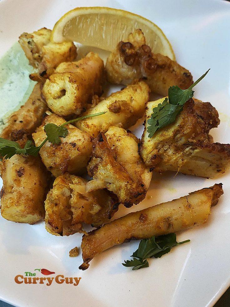 Tandoori grilled octopus