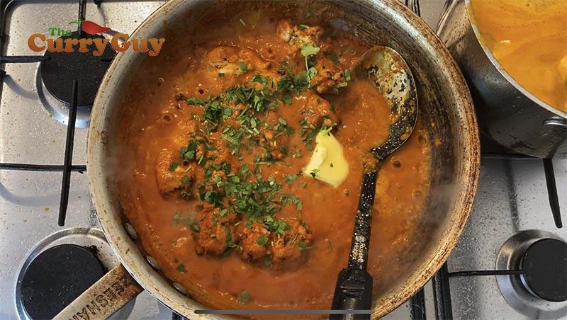 stirring in remaining ingredients