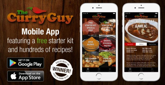 The New Curry Guy Recipe App!