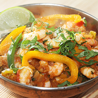 My 30 Minute Quick Prawn Balti