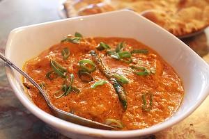 A British Indian restaurant style chicken curry