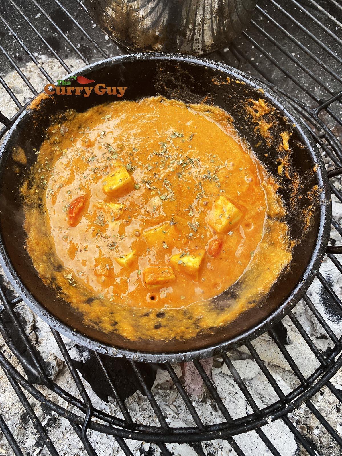 Adding kasoori methi and salt to taste