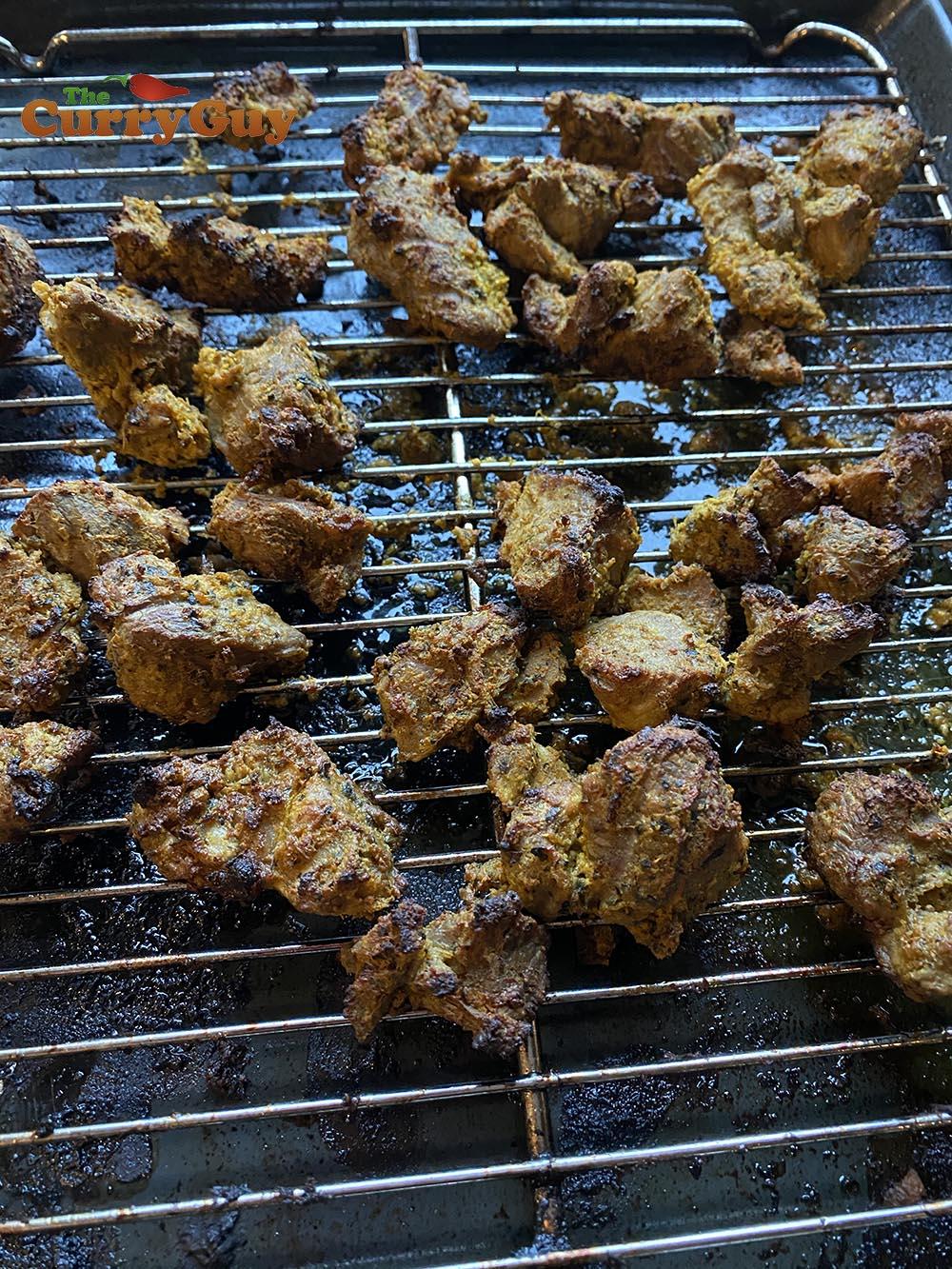 Cooked lamb tikka