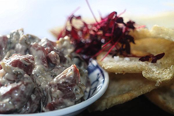 Beef fillet tartar