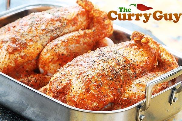 Marinated spicy roast chicken