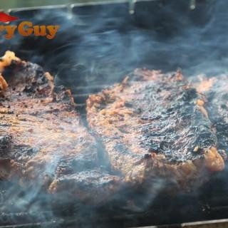 Indian spiced sirloin steaks