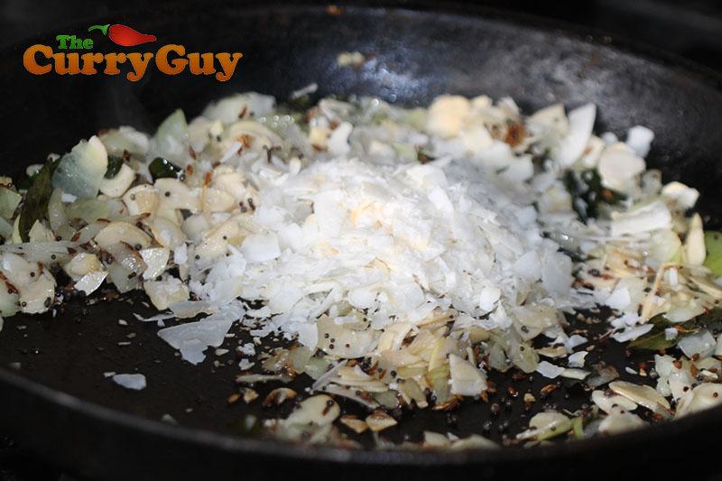 Making fried cauliflower