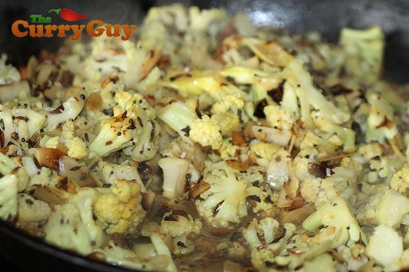 Indian stir fried cauliflower.