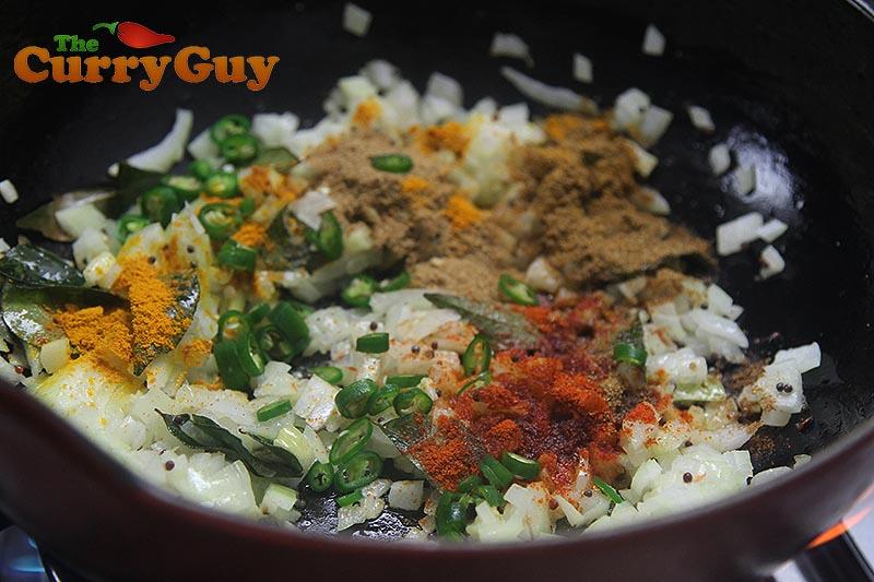 Making Kala Channa Curry