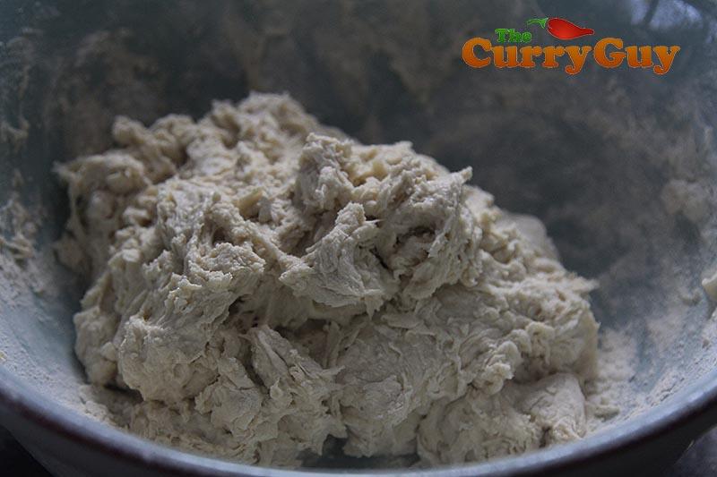 Making tandoori naans