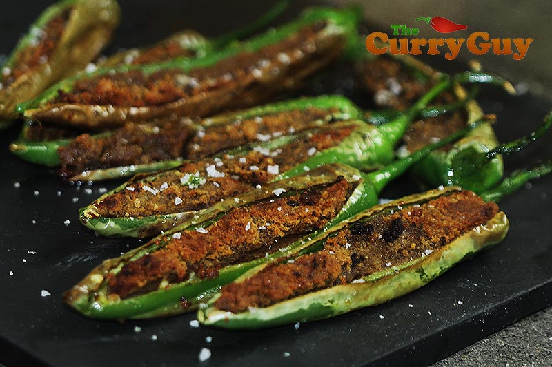 Stuffed Green Chillies Spicy Indian Greenchilli Snack The Curry Guy
