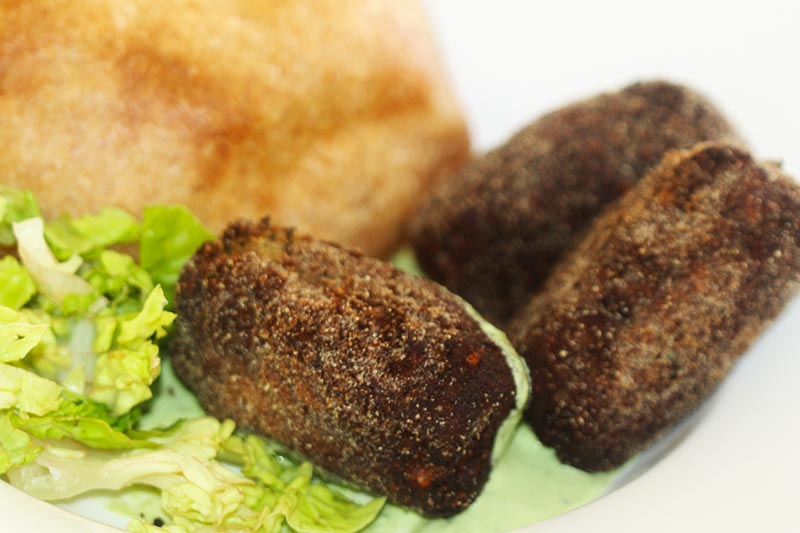 Goan beef croquettes