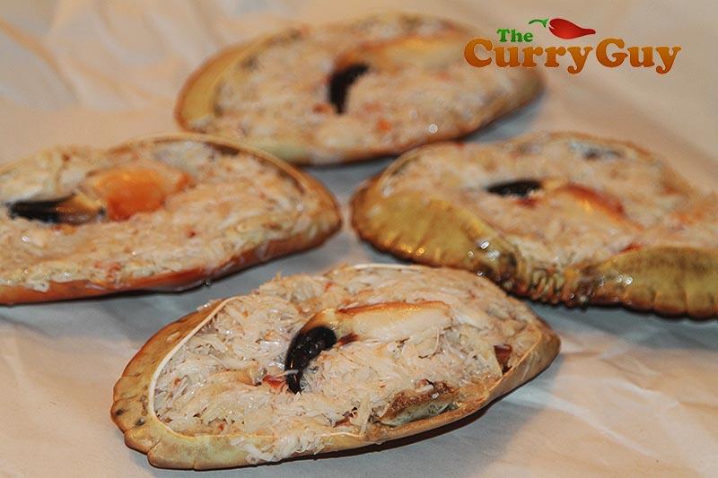 Making Goan Masala Stuffed Crabs