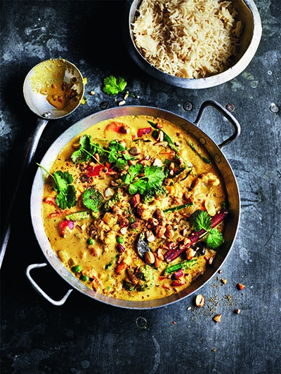 Creamy vegetable Korma from The Curry Guy Veggie