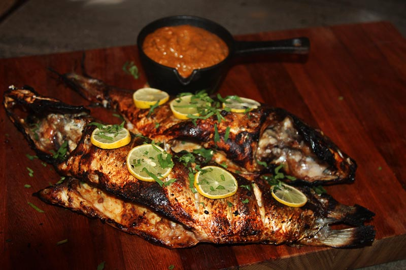 Making Keralan Tandoori Fish