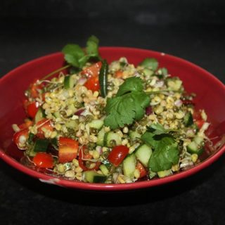 Sprouted Moong Lentil Salad