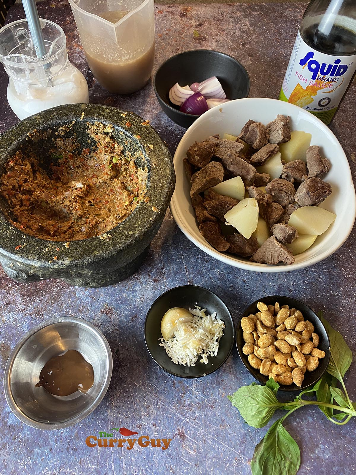 Ingredients for Beef Massaman curry