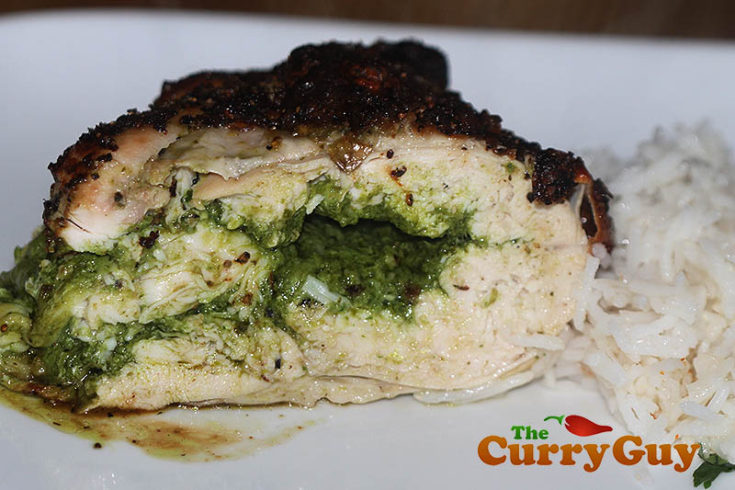Chicken Stuffed With Coriander Pesto