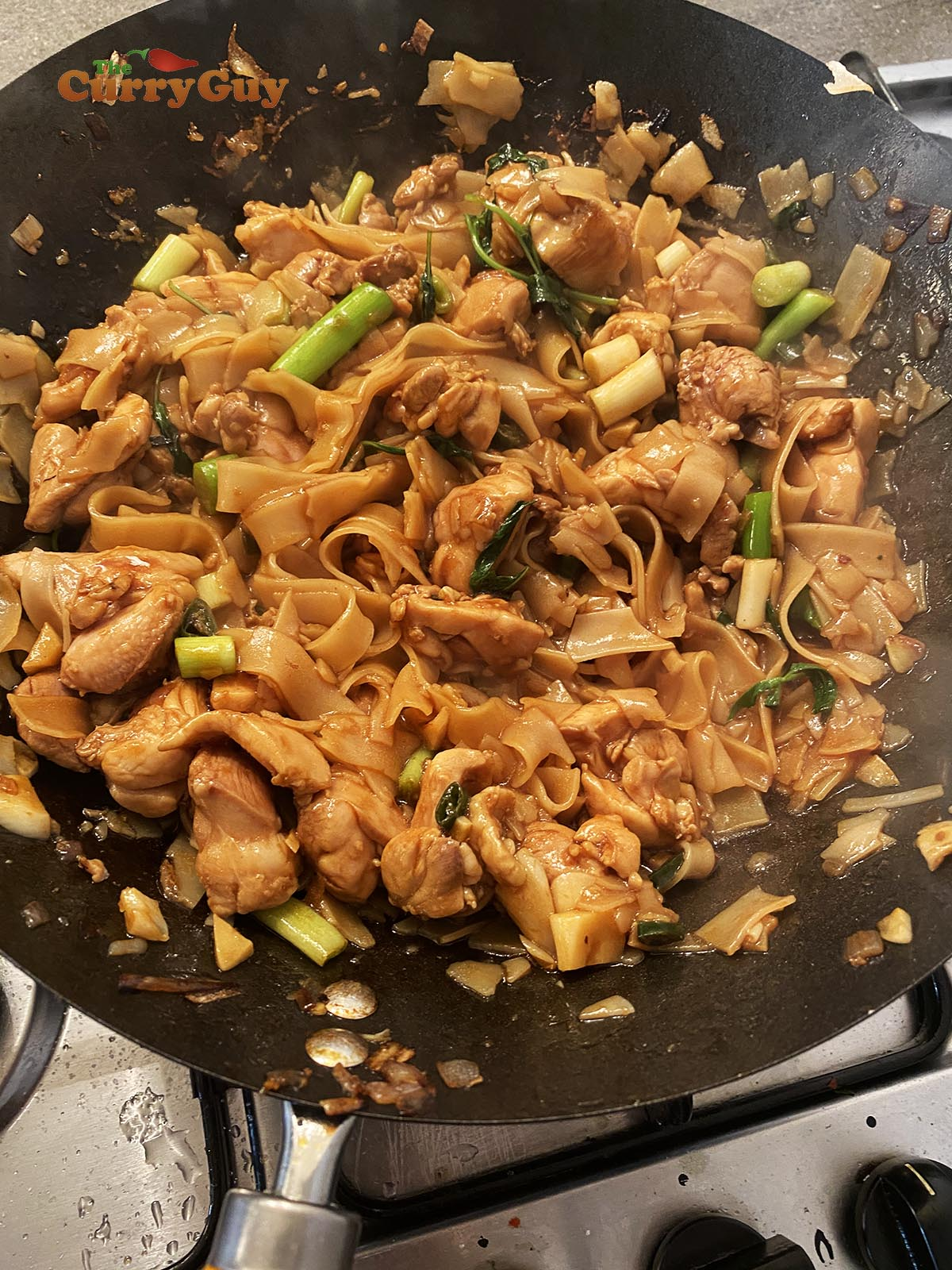Finished drunken noodles