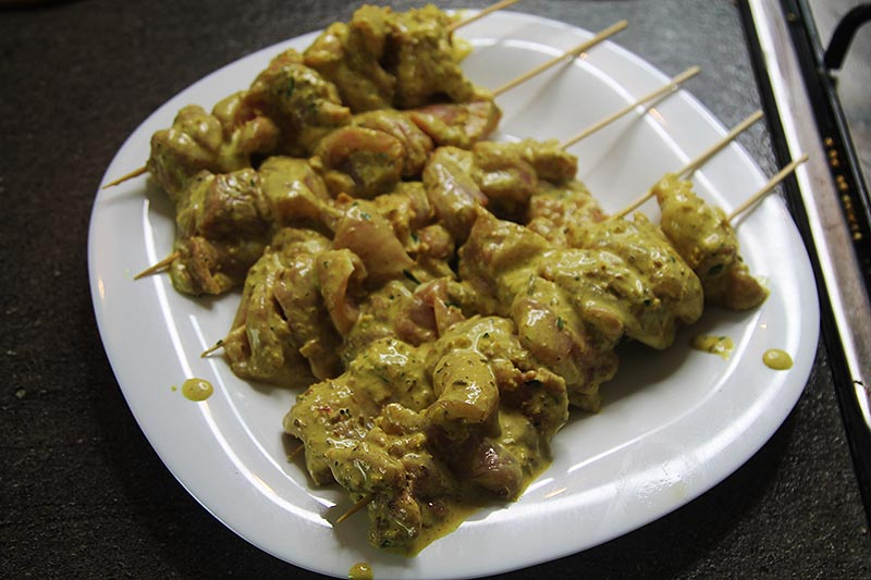 Thai satay with peanut sauce