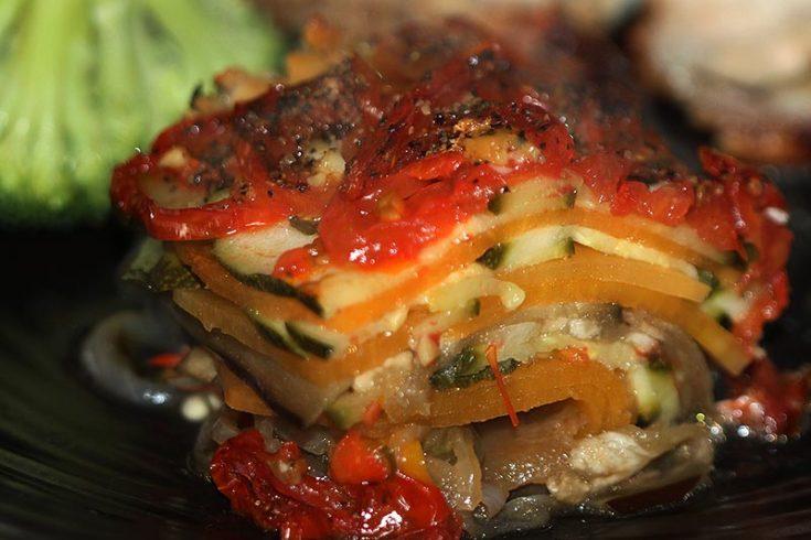 Spicy Layered Mediterranean Vegetables