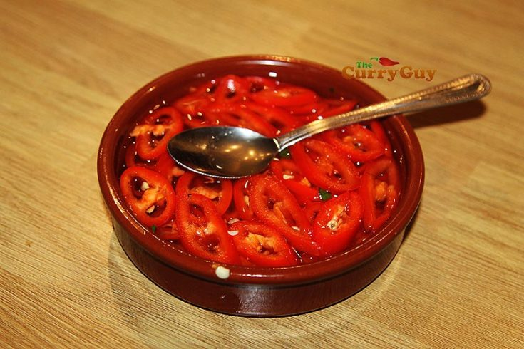 Thai Pickled Red Chillies