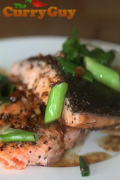 Steamed Salmon With Soy Sauce & Chilli