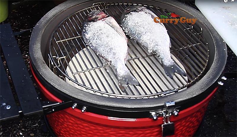 Thai salt crust fish