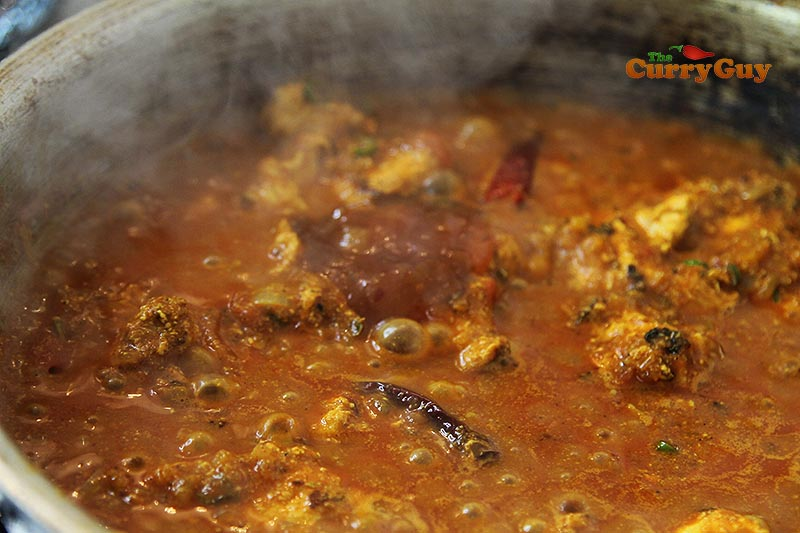 Making easy chicken Madras