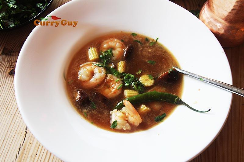 Thai prawn soup