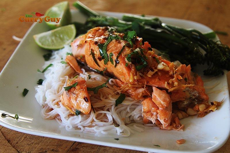 Thai baked salmon