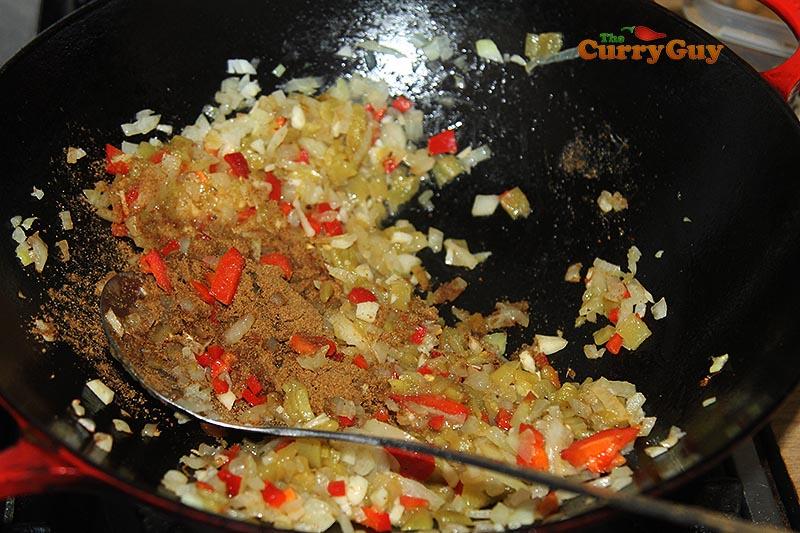 Adding cumin