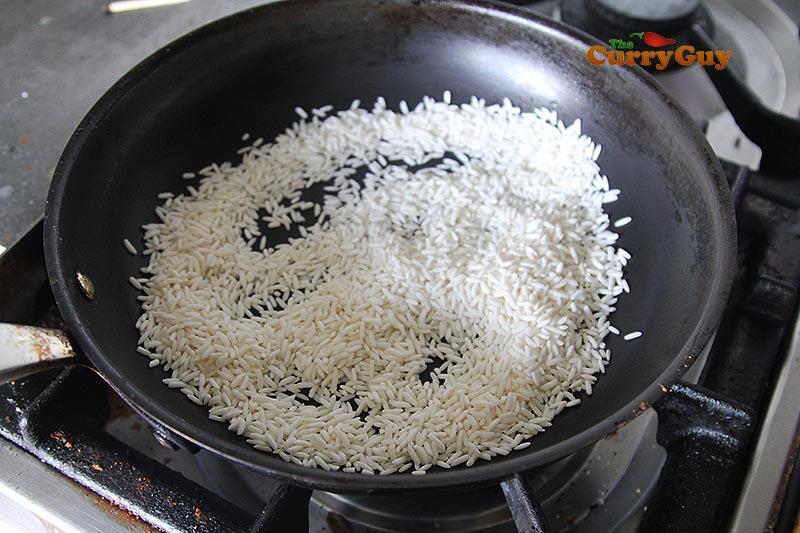 Roasting rice