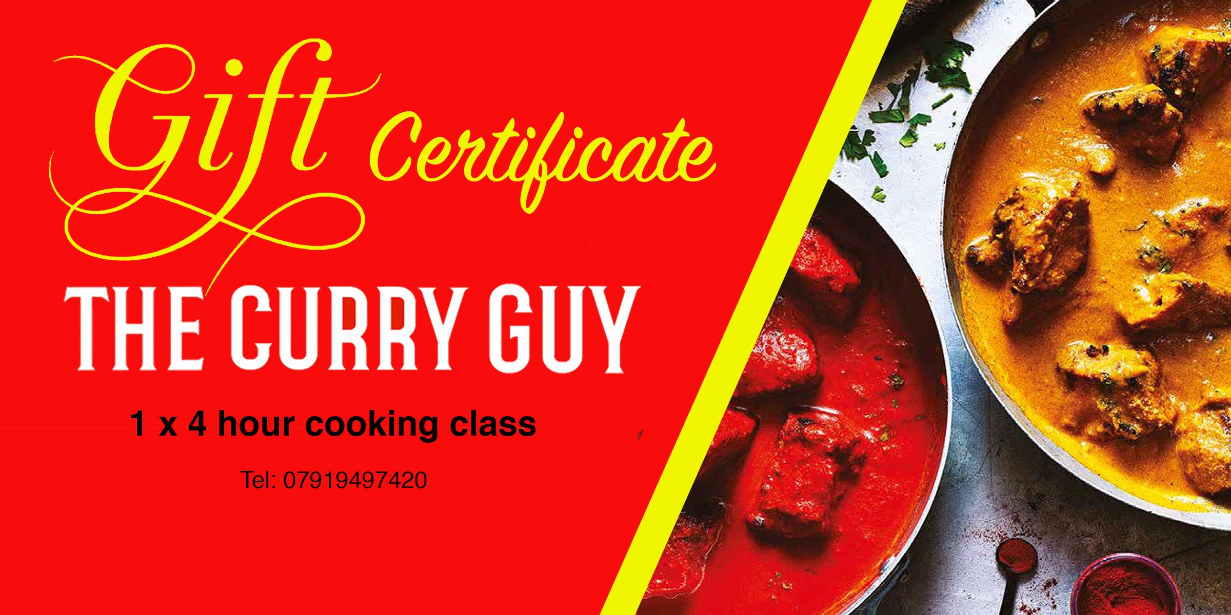 Curry Class Gift Certificate