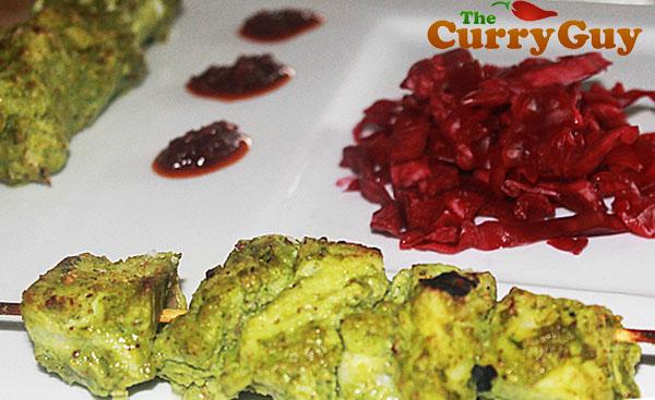 Tandoori Cod Marinated In A Green Spicy Sauce