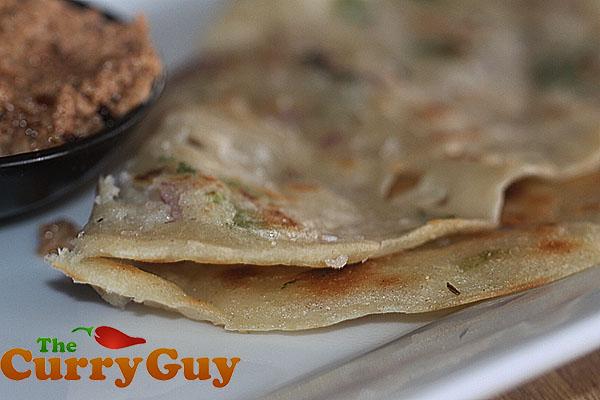 Rava Dosas With Onion, Chilli and Coriander
