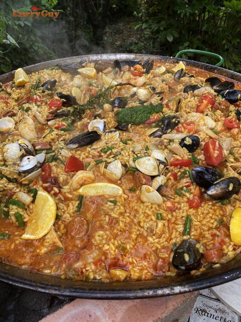 finished paella